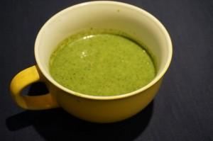 茎ブロッコリー若葉青汁スープ