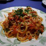 完熟トマトの自家製ソースを使ったトマトソースパスタはシンプルでも本当においしい