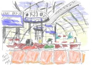 パリ・シャルルドゴール空港2で朝早く乗り換え