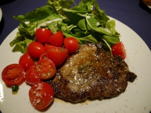 牛肉のコトレッタ、ミニトマトのケッカソース